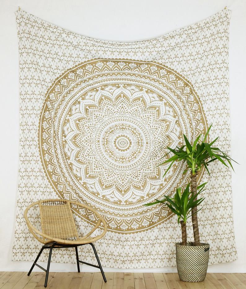 Mandala Wand Tuch - Yoga Zimmer Deko
